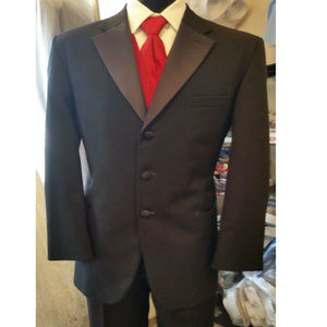 Used Black Tuxedo Jacket, After Six, Size mens 40R